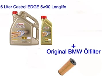 Castrol Edge 5 W30 - Aceite de motor Longlife-04 para BMW (1 F20 F21 X1 X3 X5 E90 Mini Cooper): Amazon.es: Coche y moto
