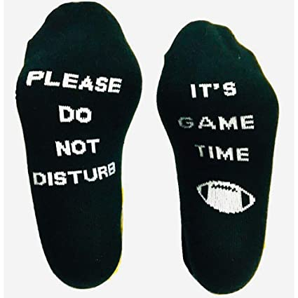 2ae38b1af8 Savvy Gifts Please Do Not Disturb It's Game Time Funny Sports Socks for  Football Fans -