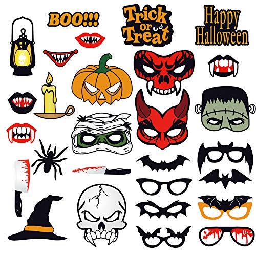 Printable Photo Booth Props (LALASTAR Halloween Photo Booth Props,Halloween Mask Party Props Decorations,28)