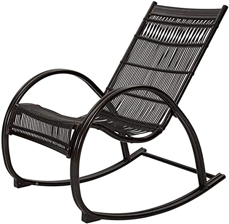 N/A - Silla mecedora de jardín para exteriores, para todo tipo de clima, sillón de respaldo alto, plegable, tumbonas para balcón, patios, balancín, 2 estilos (color : B), B: Amazon.es: Deportes y