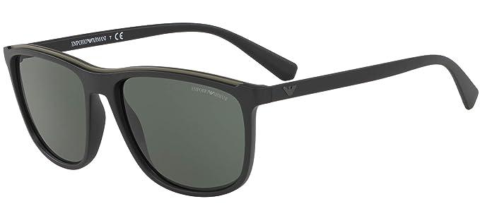 Emporio Armani 0EA4109 Gafas de sol, Matte Black, 57 para ...