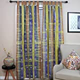 Celtic Batik Tie Dye Tab Top Curtain Panel-44 x 60