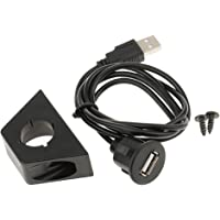 Segolike USB 2.0 Male to Female AUX Flush Mount Car Mount Extension Cable for Car Truck Boat Motorcycle Dashboard Panel 3 Feet 1 Meter