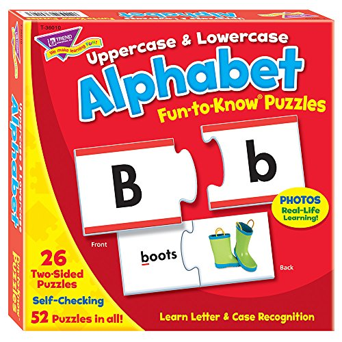 Fun-to-Know® Puzzles: Uppercase & Lowercase Alphabet (Alphabet Photo Puzzles)