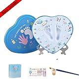 VIVAHOUSE Kit Impronte Bimbi o Neonati con Argilla Atossica, Cofanetto in metallo + pasta modellabile per custodire le impronte del bebé | Perfetto come Regalo di Nascita, Battesimo o per Futuri Gen (HEART)