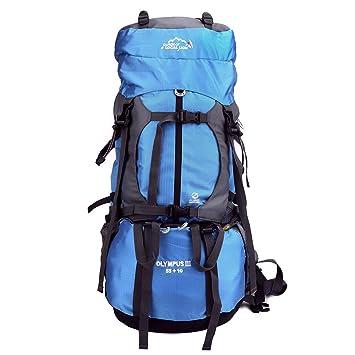 Issyzone - Mochila de Senderismo 65L (55 + 10) - Mochila para Camping Viaje Trekking con Estructura Interior con Funda de Lluvia: Amazon.es: Deportes y aire ...