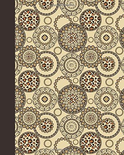 Sketchbook: Animal Print Mandala 8x10 - BLANK JOURNAL NO LINES - unlined, unruled pages (8x10 Mandala Design Sketchbook Series)