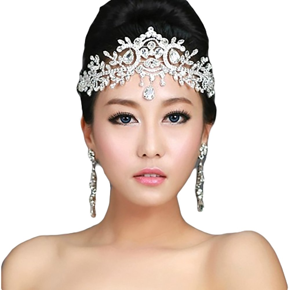 Bella-Vouge-Lady Rhinestone Wedding Bridal Head Wear Hair Band Headdress Chain Jewelry Decoration-NO.421 head-chain-421
