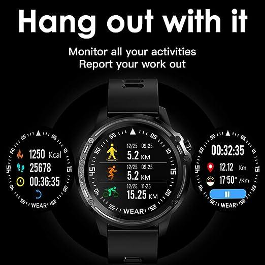 Amazon.com: ZMDHLY Smart Watch Mens IP68 Waterproof Reloj ...