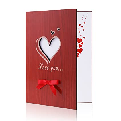 Handmade Greeting Cards For Valentine Day Amazon Love You Card Anniversary Birthday Designs