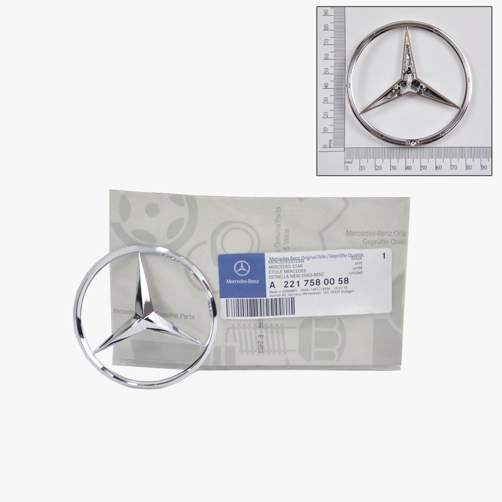 Mercedes-Benz Trunk Lid Emblem Star Badge Genuine Original 2210058