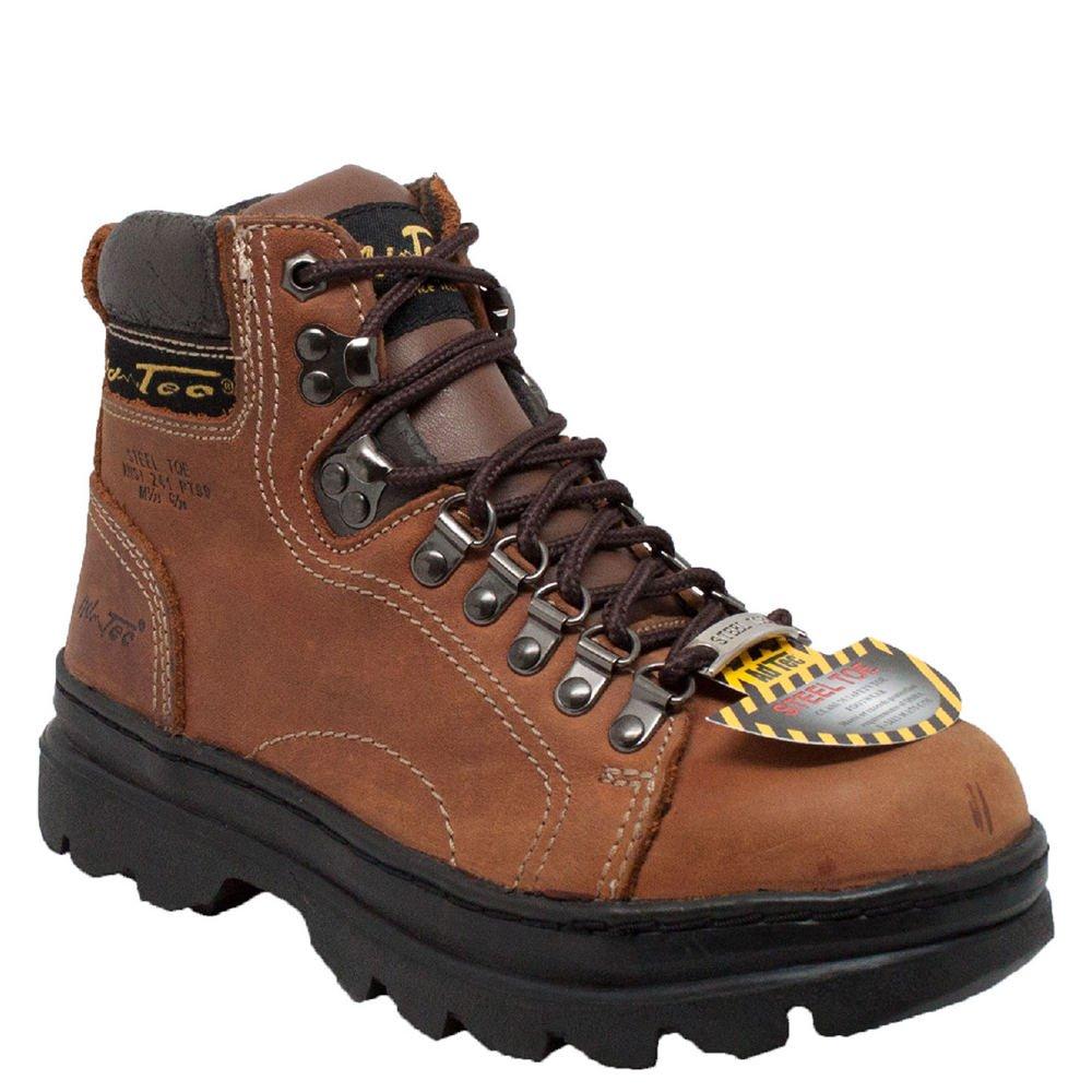 Adtec Footwear Womens 6 inch Steel Toe Work Boot Brown 6-M
