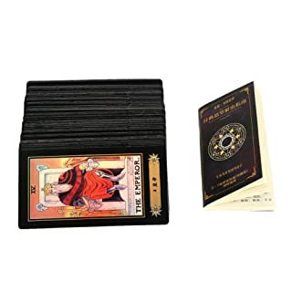 Asixx 78 carte dei Tarocchi, carte dei Tarocchi Deck Vintage 78 carte Rider Waite Future Telling Game con scatola colorata (78 pezzi)