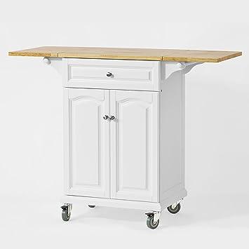 Meuble Plan De Travail.Sobuy Fkw36 Wn Desserte Table Roulante Meuble De Rangement Pour Cuisine Plan De Travail Extensible