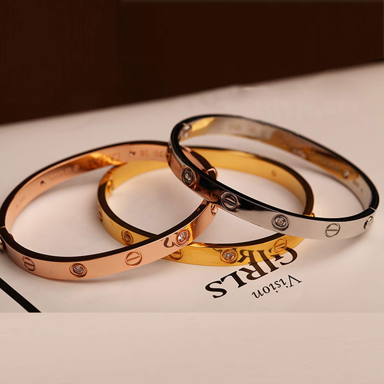 Love brazalete pulsera tornillos tornillo Gold rose-oro plata brazalete de acero inoxidable