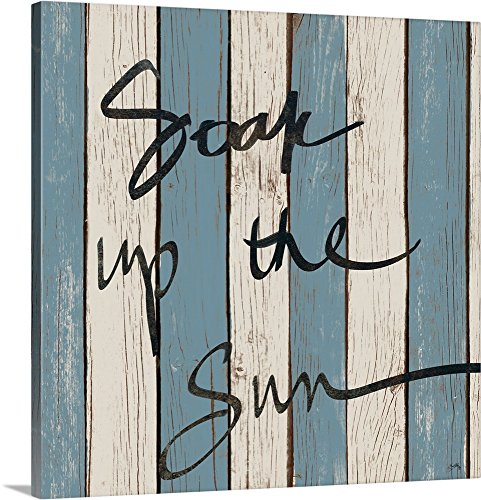 Elizabeth Medley Premium Thick-Wrap Canvas Wall Art Print entitled Beach Words I 36