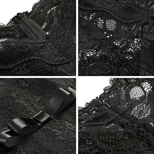 Frauen Kleider Kleider Casual V-ausschnitt Hülse Volle Kleid Sexy Aushöhlen Party White Patchwork Für Solide Yao Spitze