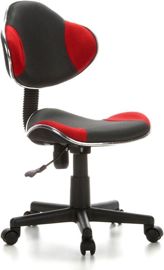 hjh OFFICE 633002 silla escritorio para niños KIDDY GTI-2 tejido gris / rojo ergonómico silla juvenil