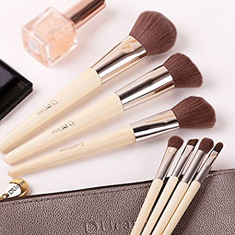 DUcare 7-Piece Eco Bamboo Starter Brush Set with Pouch Bag