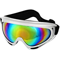 uxcell a14022500ux0078 Colored Oval Lens Full Rim Ski Snowboard Goggles Gray for Man Woman