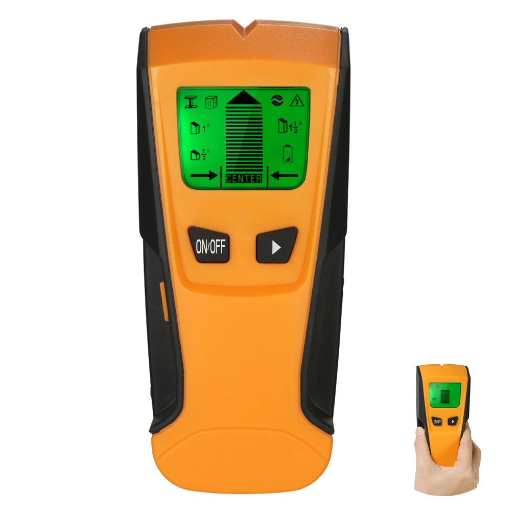 FOREVERHOPE 3 In 1 Metal Detectors Stud Center Finder Metal and AC Live Wire Detector Wall Scanner with Auto Calibration