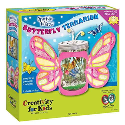 Butterfly Child Wings Kit - Creativity for Kids Sparkle N' Grow Butterfly Terrarium