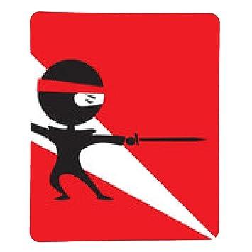 alfombrilla de ratón ninja con una espada - rectangular ...