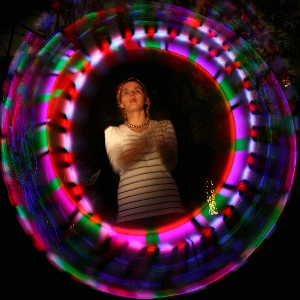 Speevers LED Poi Optic Fiber Poi for Professionals - Exciting Light Show and Fast USB Charge - Strobe & Fade Light Programs - LED Prop for Spinners 1 Year Warranty by Speevers (Image #8)
