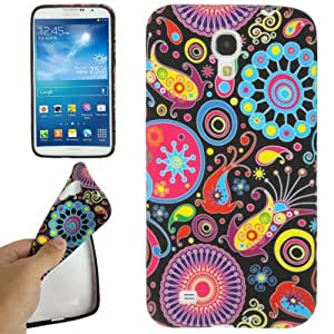 JUJEO Flower Pattern TPU Protection Case for Samsung Galaxy Mega 6.3/I9200 - Non-Retail Packaging