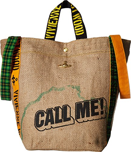 Vivienne Westwood  Men's Africa Tote Bag Natural One Size