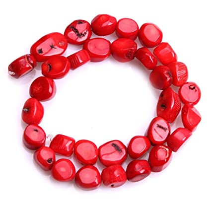 ba30015678008 20-25mm Freeform Red Coral Beads Semi Precious Gemstone Beads for Jewelry  Making Strand 15 Inch (16-20pcs)