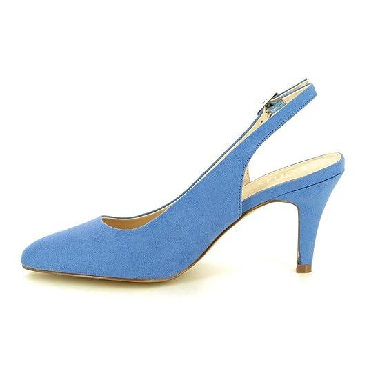 26fe8462f7 Lotus Cornflower Blue Microfibre Lizzie Sling-Back Shoes: Amazon.co.uk:  Shoes & Bags