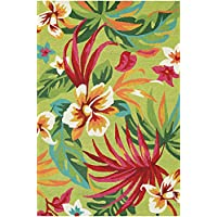 Couristan Covington Painted Fern Runner Rug, 26 x 86, Fern/Red