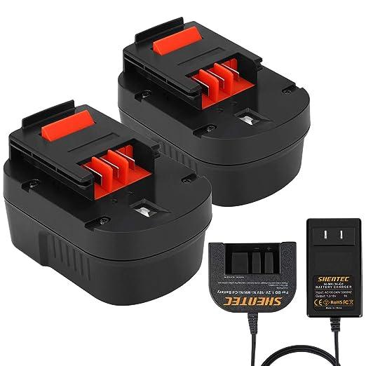 Shentec 1.2V-18V batería de repuesto y cargador, Ni-MH ...