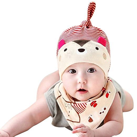 Infgreate Stylish Warm Hat 2Pcs Baby Toddler Cartoon Bear Hat Bib ... 5c867a72e9