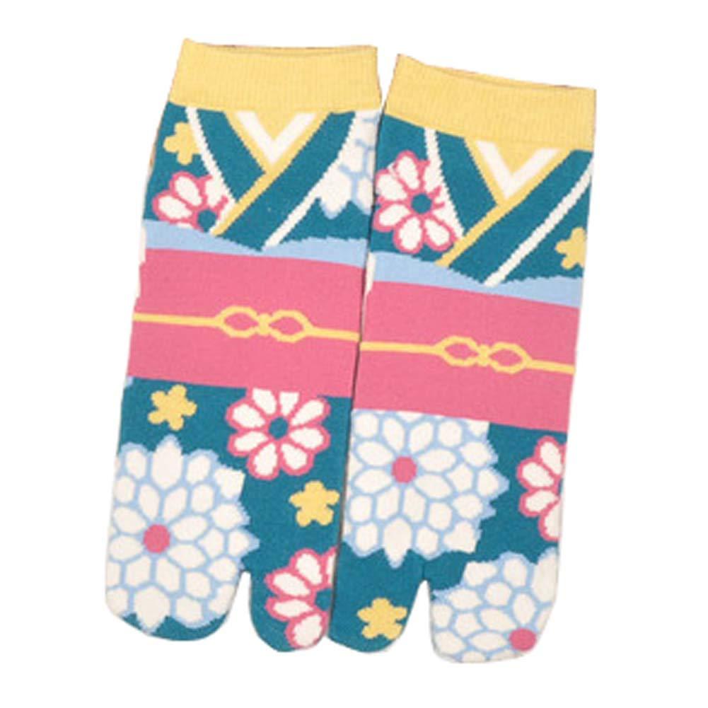 Fancy Pumpkin Calcetines de estilo japonés con sandalias con punta dividida Tabi Ninja Geta Calcetines de geisha para mujer, S-16