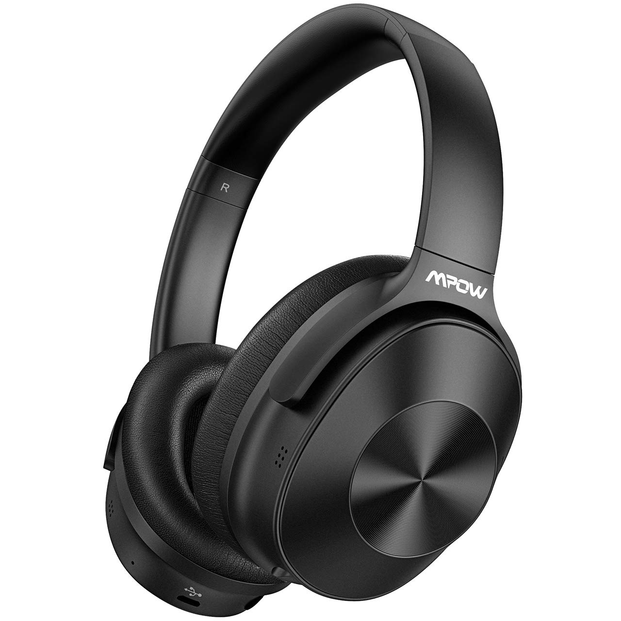 Mpow Hybrid Noise Cancelling Headphones Upgraded Bluetooth Headphones, Over-Ear Wireless Headphones with Stereo Sound, 30H Playtime for Travel Work Cellphone