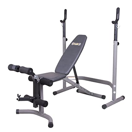 Awesome Body Champ Olympic Weight Bench With Leg Extension Curl Lift Developer  Attachment / 2 Piece Combo