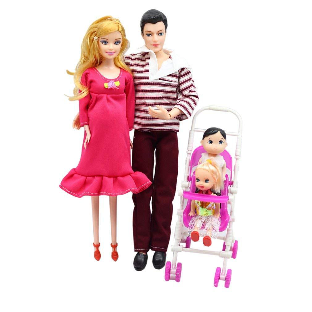 Papa Landau Cadeau Jouets Enfants Jouets Enfants Jouets b/éb/é Fils au Hasard 2 Enfants FairytaleMM 5 Personnes poup/ées Costume Enceinte poup/ée Famille Maman