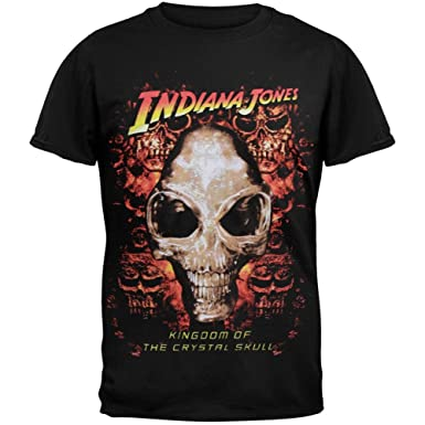 INDIANA JONES AND T AND THE KINGDOM OF THE CRYSTAL SKULL T shirt Black all sizes