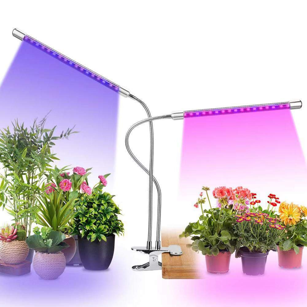 Grow Light, UPSTONE 40W UV IR LED Plant Lights Full Spectrum Double Chips Growing Lamps Bulbs for Indoor Plants Hydroponics Greenhouse Fruits Veg and Flowers, Auto ON Off with 3 9 12H Timer