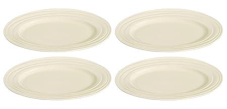 Jamie Oliver Waves Set of 4 Large 33cm/13\u0026quot; Oval Dinner Plates Fine Off  sc 1 st  Amazon UK & Jamie Oliver Waves Set of 4 Large 33cm/13\