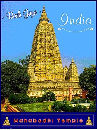 - MAGNET Bodh Gaya India Mahabodhi Temple Buddhist Buddha Art Trvel Advertisement Magnet