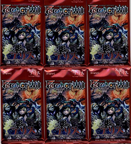 6 (Six) Packs of Force of Will TCG Sealed Booster Packs A2: The Twilight Wanderer (6 Pack Lot)