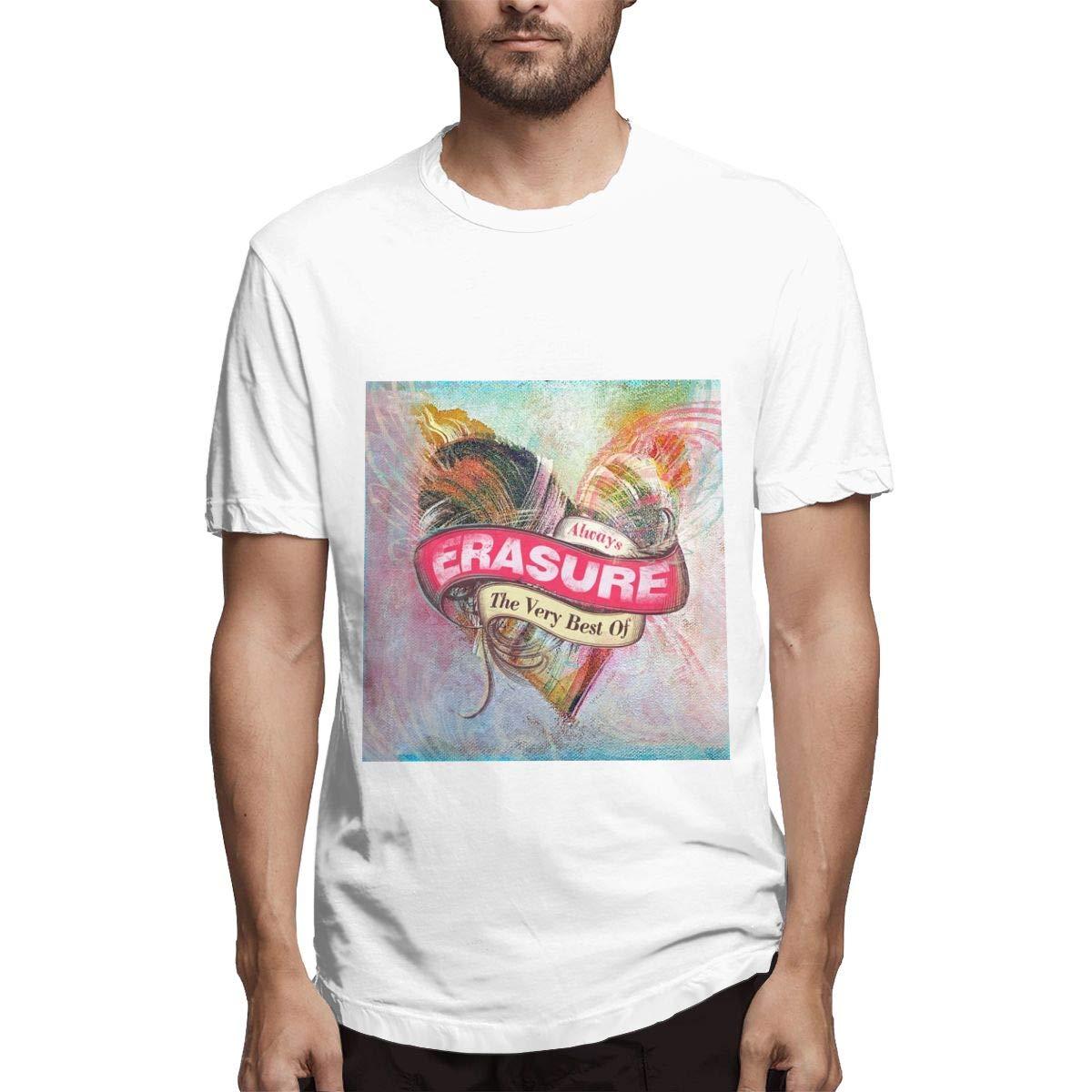 Lihehen S Erasure Retro Printing Round Neck Shirts