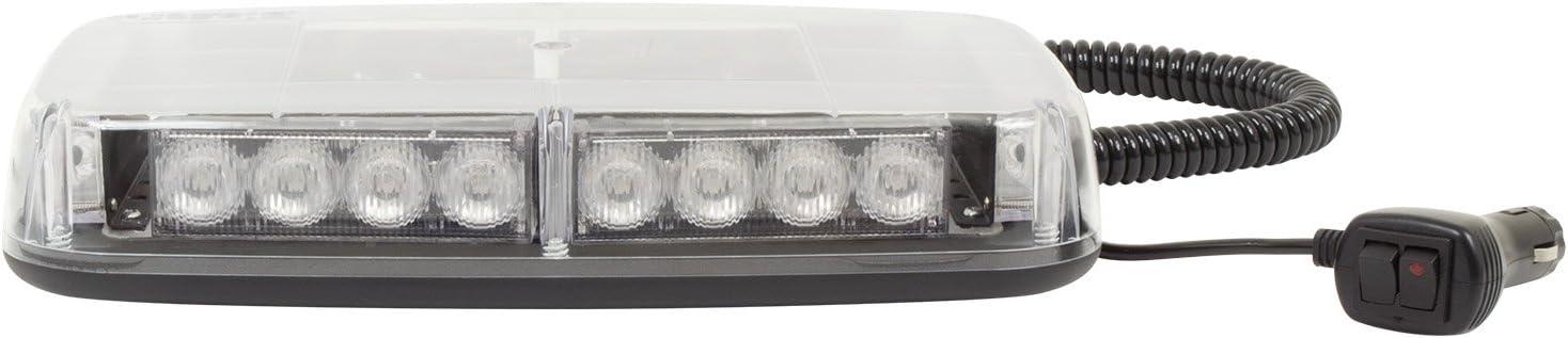 Blazer International C4855CAW LED Warning Light Bar with Magnetic Base, Amber and White