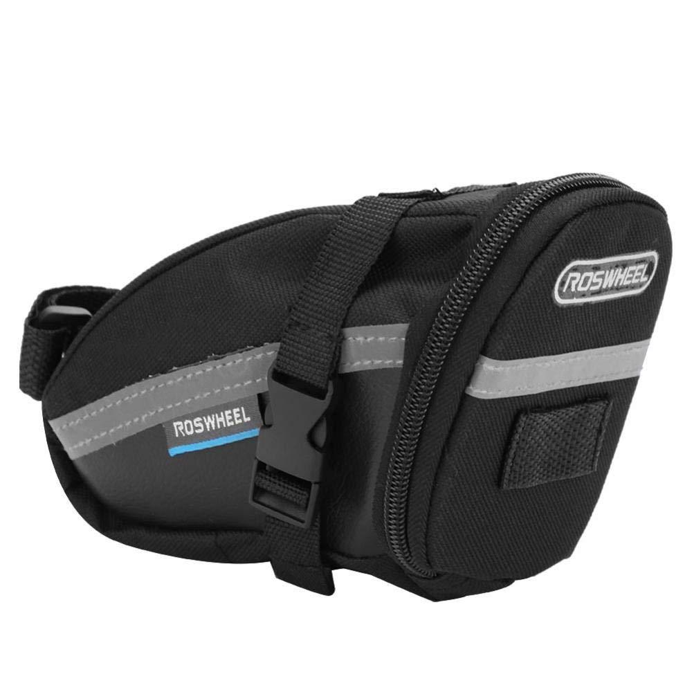 Vbestlife Bike Saddle Bag Seat Pack Outdoor Water Resistant Bike Rear Rack Storage Bag Large Capacity PU Saddle Tail Pouch Mountain Bike Road Bicycle
