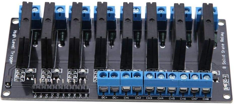 Zouminy Module de Relais /à Semi-conducteurs 5V 2A 8 canaux 70g//2.5oz avec d/éclencheur Haut Niveau par fusible
