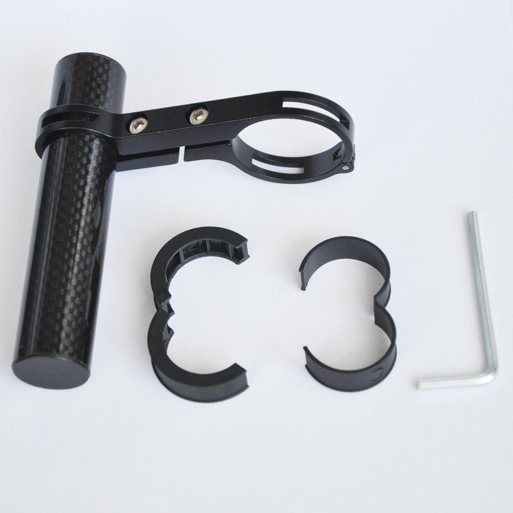 Extension de guidon en fibre de carbone pour guidon de v/élo en alliage d/'aluminium support de lampe Pince pour compteur de vitesse de v/élo Upanbike phare