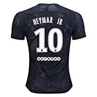MasonMolly 2017/2018 Paris Saint Germain Neymar 10 PSG Third Soccer Jersey Mens Black Size M